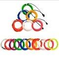 1 M/2 M/3 m/5 M/8 M/10 m luz de neón decoración de fiesta de baile lámpara Flexible EL cable cuerda tubo impermeable tira de cuerda