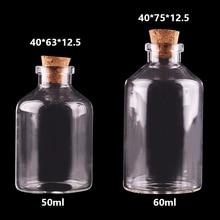 20ピース50ミリリットル60ミリリットル小さなガラスびんコルク栓空スパイス瓶ギフト工芸品バイアル