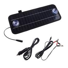 Solar-Powered Portable Universal Car Battery Cell Charger Charging  Dock Panel miniisw sw 008 0 8w solar powered battery panel board black