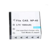 2Pcs Lot Batteries 1500mAh NP 40 CNP40 NP40 Replacement Battery For Casio NP 40 NP40 NP