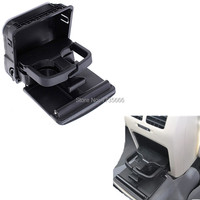 1K0862532 C 1KD862533 Central Armrest Rear Clamshell Cup Holder Black For VW Golf MK6 10 13