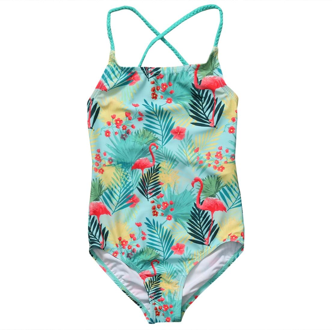 Schwimmkleidung 2 Pcs Streifen Floral Baby Mädchen Bademode Bikini Set Kleinkind Kind Mädchen Badeanzug Badeanzug Bademode Sommer Kinder Kleidung Mädchen Mutter & Kinder