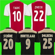 18-19 Dutch Serie Ajax Jersey ZIYECH 22 SCHONE 20 Home and Away Printed Numbers and Names  Adult T-Shirt Customized(China)