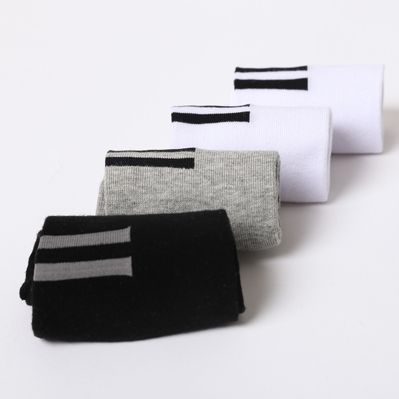 NEW 2018 20pairs/lot MEN Socks Casual Patchwork Stripe socks black