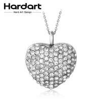 Hardart 316L Stainless Steel Charm Necklace Heart Love Link Necklace Vintage Gift For Lover Couples For