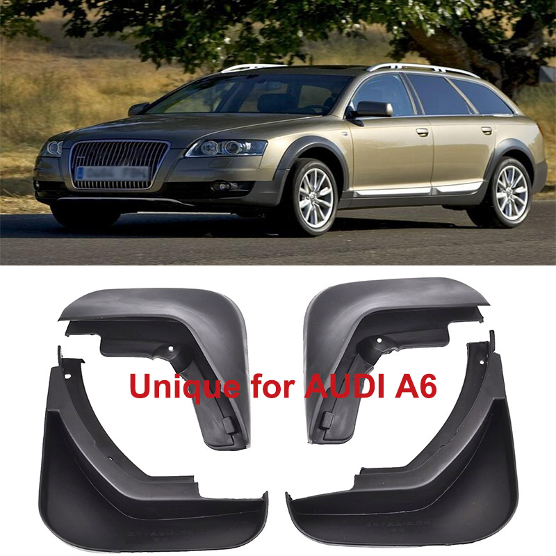 Car Front Rear Splash Mud Guard Mudguard For Audi A6 C6 2006 2007 2008 2009 2010