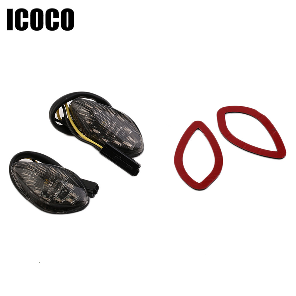 ICOCO New 1 Pair 12 LED Car Styling Side Turn Signal Light Warning Lamp For Honda 2014-2016 Honda Grom Flush LED Turn Signals