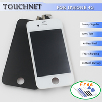AAA Quality For IPhone 4 Lcd Display Touch Screen Digitizer Full Assembly Complete Screens 100