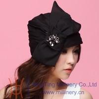 Summer Fashion Women S Party Black Bow Organza Pearl Jewelry Casual Hats Wedding Headwear Girl S