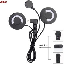 New Soft Earphone + Microphone Accessories Stereo Headphone ONLY Suit for FDC T-comvb Colo Moto Helmet Intercom