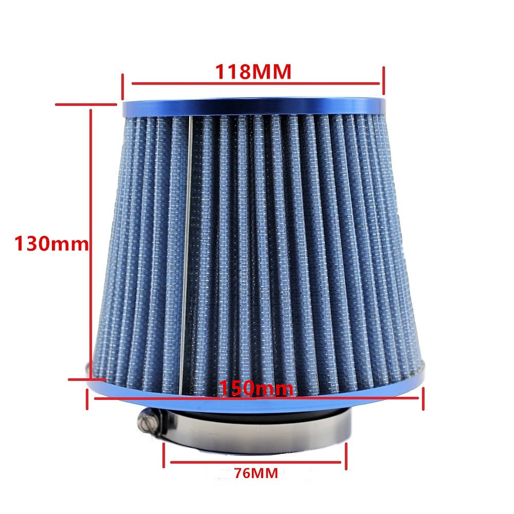 Image 2 - Universal Car Air Filters Performance High Flow Cold Intake Filter Induction Kit Sport Power Mesh Cone 55MM to 76MM-in Air Filters from Automobiles & Motorcycles