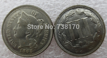 United States 1883 Three Cent  Nickel  Copy  Coins