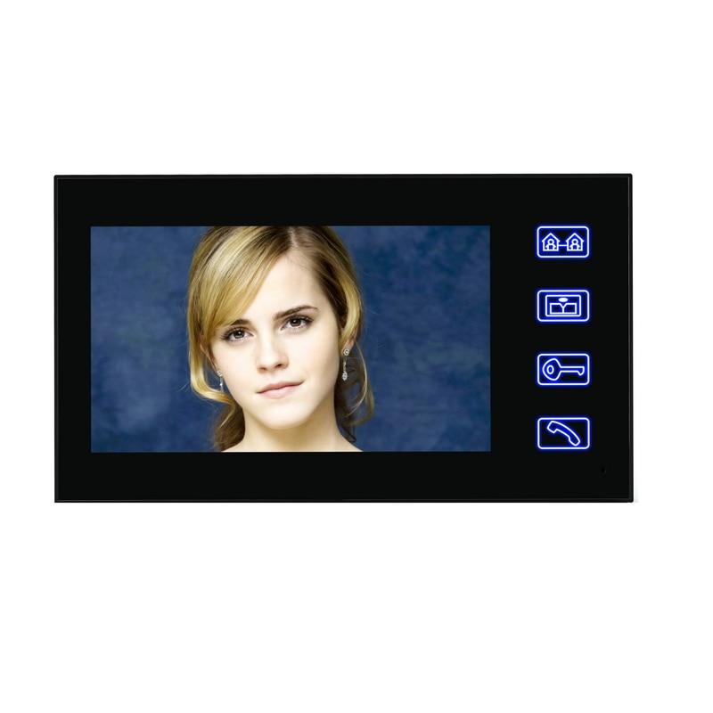 SmartYIBA Video Intercom 7 Inch Color TFT Monitor Wired Video Door Entry System Video Door Phone Doorbell Intercom Monitor