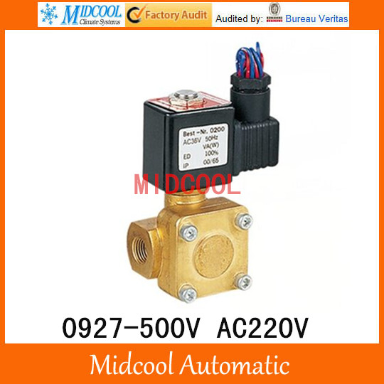 Normally closed pilot operated diaphragm valve 0927 500V AC220V G1 1/4 two way two position