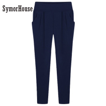 big size 6XL Women Harem Pants Stretch Elastic Waist Pants Long Pants Skinny Ladies Pencil Trousers Blue/Black/Red Sexy Leggings