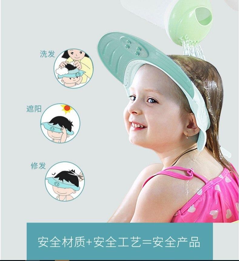 Adjustable Silicone Baby Shower Caps Protect Shampoo,Kids Bath Visor Hat,Hair Wash Shield for Children Infant Waterproof