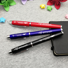 Colorful wedding party giveaways 5 colors metal roller ball pen custom free with any logo text on the cap or body