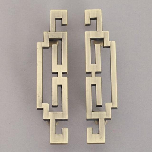 1 pair 96mm Zinc Alloy Antique Bronze Cabinet Kitchen Drawer Pulls Knobs Handles Cupboard Wardrobe Furniture Handle Knob