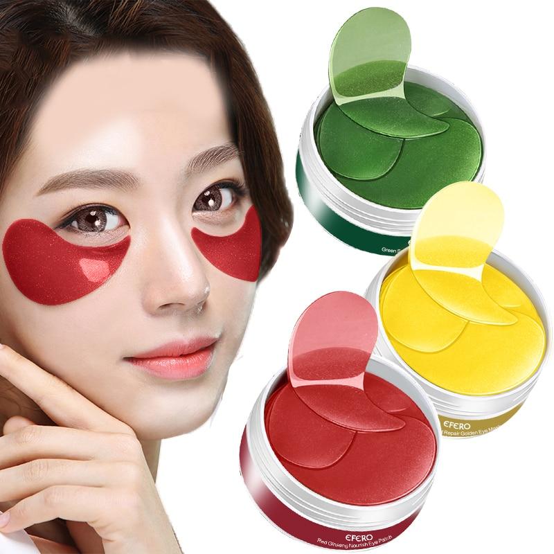EFERO Eye Patches Collagen Mask Gold Under the Eyes for Face Care Sleeping Sheet Masks 60pcs/bottle