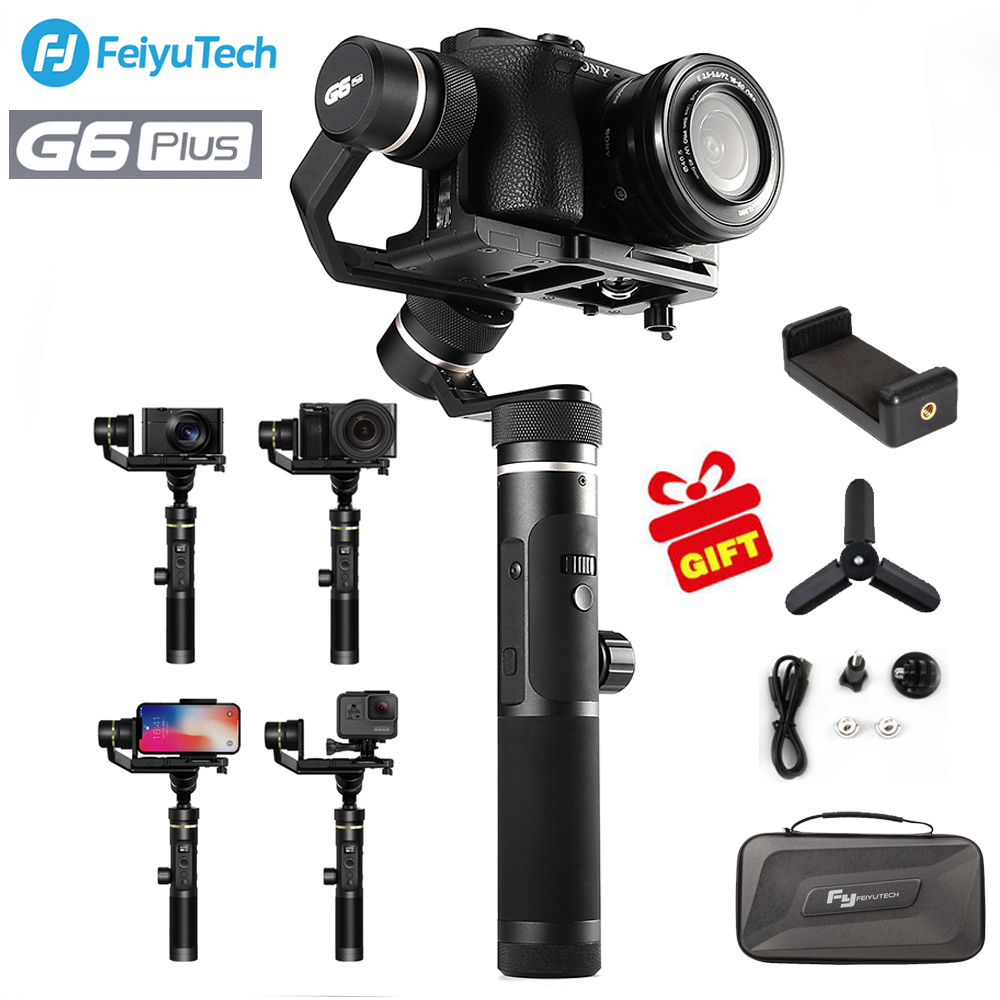 FeiyuTech feiyu G6 Più Il Giunto Cardanico 3-Axis Handheld Gimbal Stabilizzatore per il iphone Smartphone Gopro fotocamere Mirrorless sony as6000