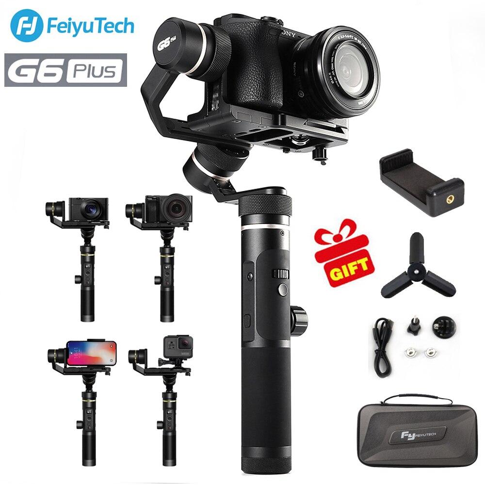 FeiyuTech feiyu G6 Plus Cardan 3 Axes Stabilisateur De Cardan Portatif pour Smartphone iPhone Gopro caméras Hybrides sony as6000