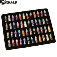 48 Bottles 3D Colorful Sequins Glitter Nail Beads Acrylic UV Gel Nail Art Decoration