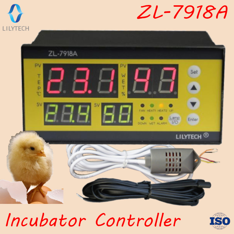 ZL-7918A,100-240Vac, Multifunction Automatic Incubator, Incubator Controller, Temperature Humidity For Incubator, Lilytech Xm-18(China)