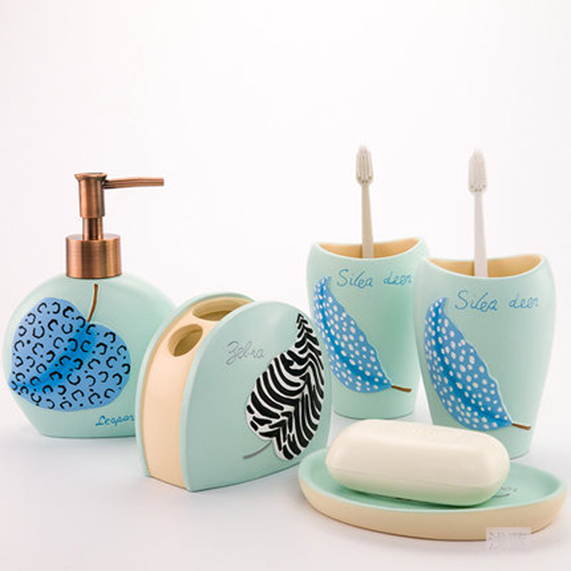Creative Art Resin 5pcsset Bathroom Accessories Set Europe Style