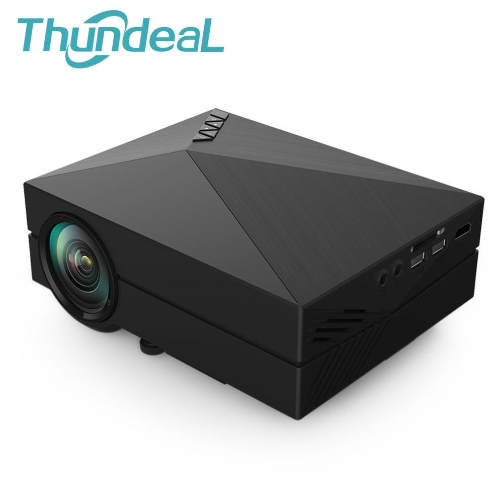 GM60 Mini Projector For Video Games Home Theatre Movie 1000Lumen 800*480 1080P Support AC3 HDMI VGA AV SD GM 60