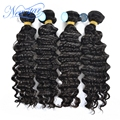new star in stock peruvian deep wave virgin human hair extension curly 100gram/piece 4bundles unprocessed healthy natural color