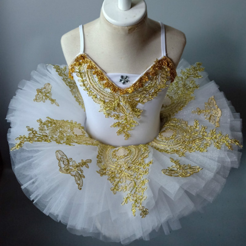 Children's Swan Lake Dance Ballet Costumes Kids Sequins Professional Ballet Tutu Skirt Ballet Dress For Girls Ballerine Party