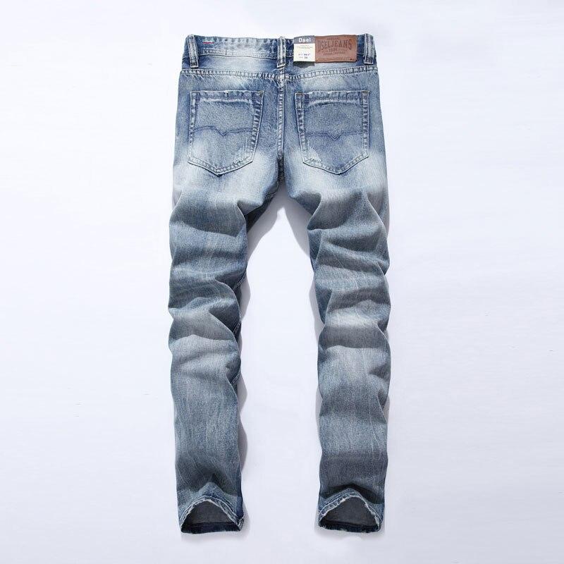 2018 New Dsel Brand Jeans Men Famous Blue Men Jeans Trousers Male Denim Straight Cut Fit Men Jeans Pants,Blue Jeans,981-A