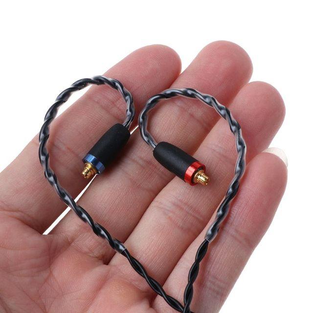 MMCX câble pour écouteurs placage dargent remplacement de fil amélioré pour Shure SE535 SE846 UE900 DZ9 DZX NICEHK HK6 accessoires qiang