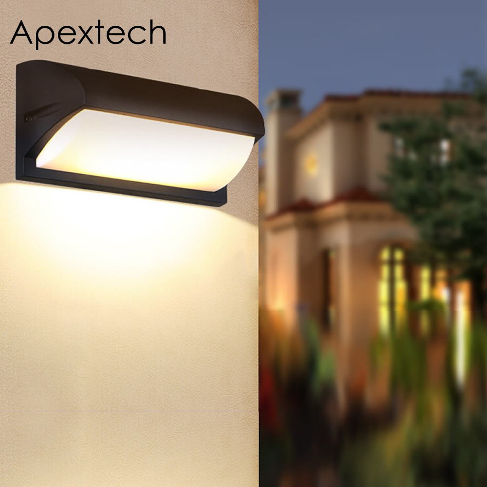 Apextech LED Wall Lamp 18W 30W Waterproof Outdoor Wall Light For Garden Courtyard Patio Villa Home Lighting Decoration AC85-265V modern wall lamp led outdoor waterproof ip65 wall lamp home lighting garden light led ac85 265v wall sconce 18w lp18