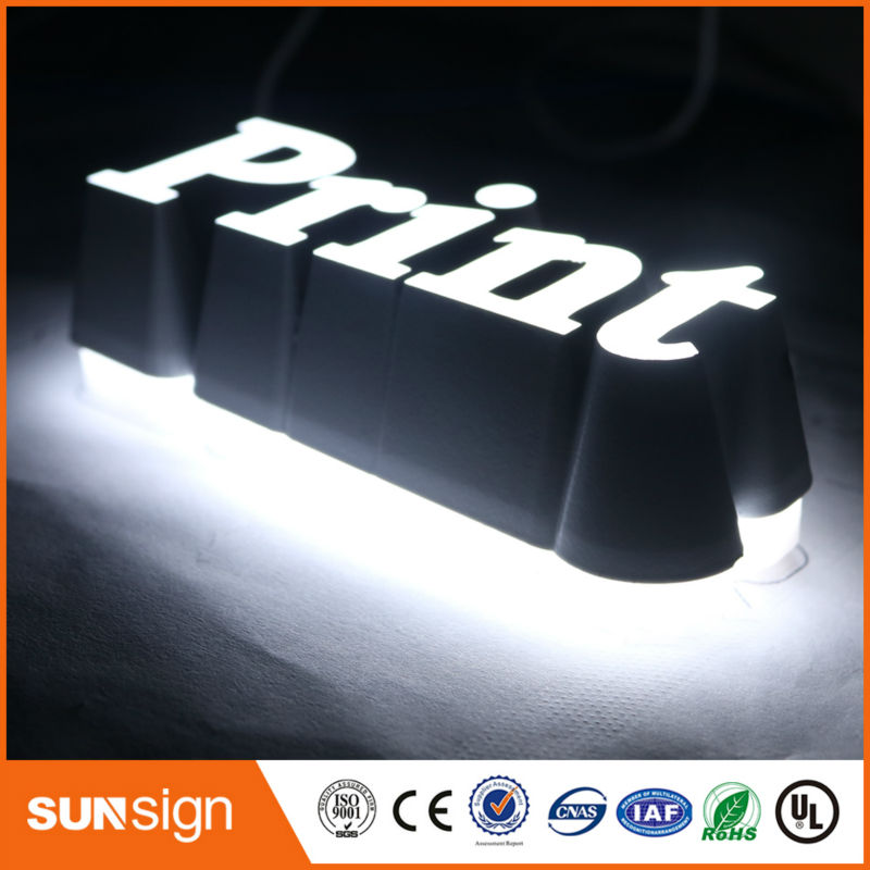 Custom 3d Sign Letters Outdoor Double Sided Led Sign