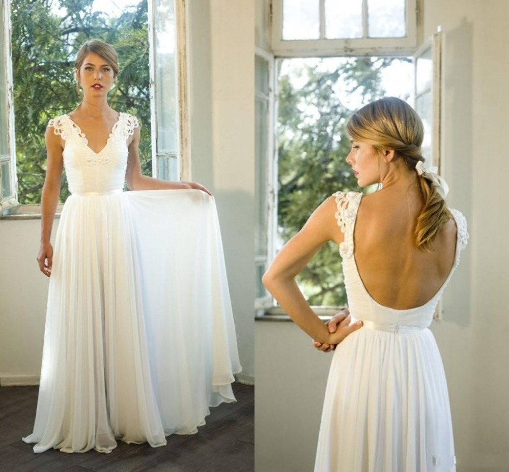 backless lace bridesmaid dress make you look backless boho wedding dress Backless Lace Bridesmaid Dress Make You Look Thinner