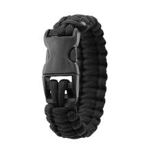 New Arrivals Men Women Nylon Military Bracelet Rope Chain with U Buckle Outdoor Sports Camping Climbing Emergency Tools(China)