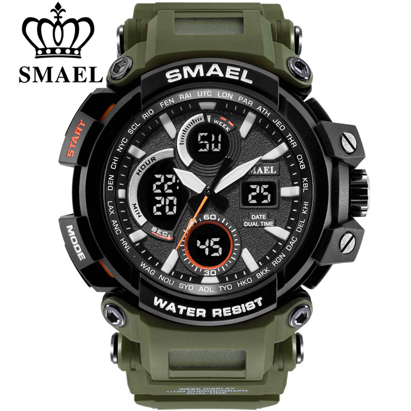 SMAEL Digital Watch Men Military Army Outdoor Sport Watch Water Resistant Date Calendar LED Electronics Watches relogio masculin цена и фото