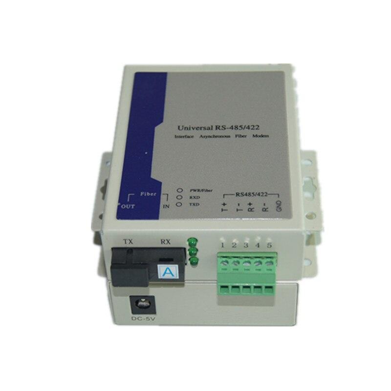 High Quality Universal Bidirectional RS485 Data Over Fiber Optic Media Converter -SC Single Mode Up 20Km 1Pair