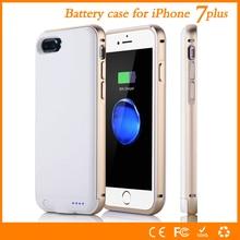 Métal shell pour iphone 7 plus batterie cas 4000 mah haute qualité puissance chargeur smart cover pour iphone 7 plus batterie cas