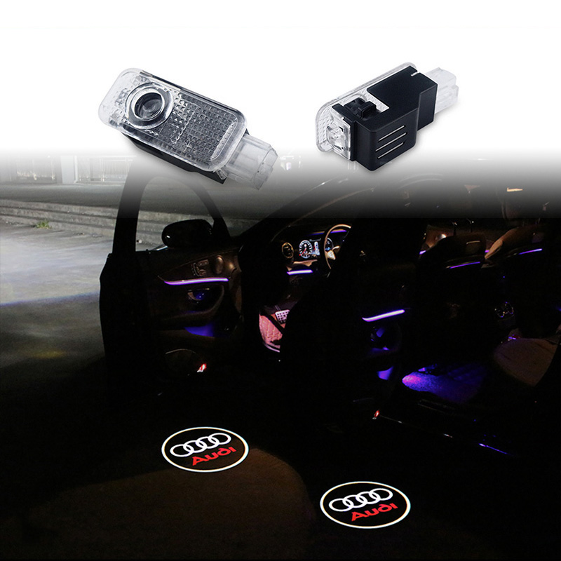 Car Door Welcome Light Logo Projector For Audi A3 A4 B6 B8 B5 A6 C5 C6 TT Q5 Q7 Q3 A5 A8 A7 A1 R8 8P 8L 8V R8 RS S line Quattro