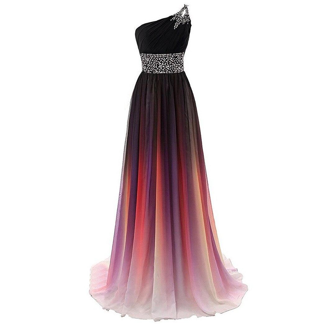 2019 Long A-Line   Bridesmaid     Dress   One Shoulder Lady Vestido De Madrinha De Casamento Longo Floor Length Elegant Prom Gowns