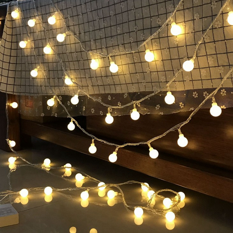 USB Powered Battery Powered  1M 2M 3M 5M 10M Fairy Flower Globe LED String Christmas Holiday Wedding Party Decoration Lights