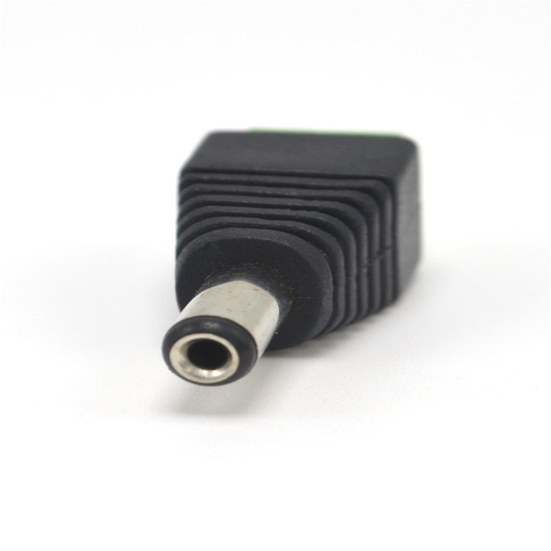 1pcs Female Male DC Power Cable Connector 5.5mmX2.1mm Jack Plug Connection For 5050 5630 3528 Single Color LED Strip CCTV Camera