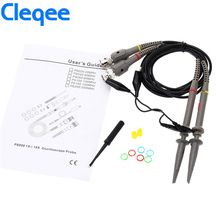 цены NEW Cleqee 2PCS P6060 Oscilloscope Probe 60MHz Clips For Tektronix oscilloscope HP X1/X10 DC-60MHz