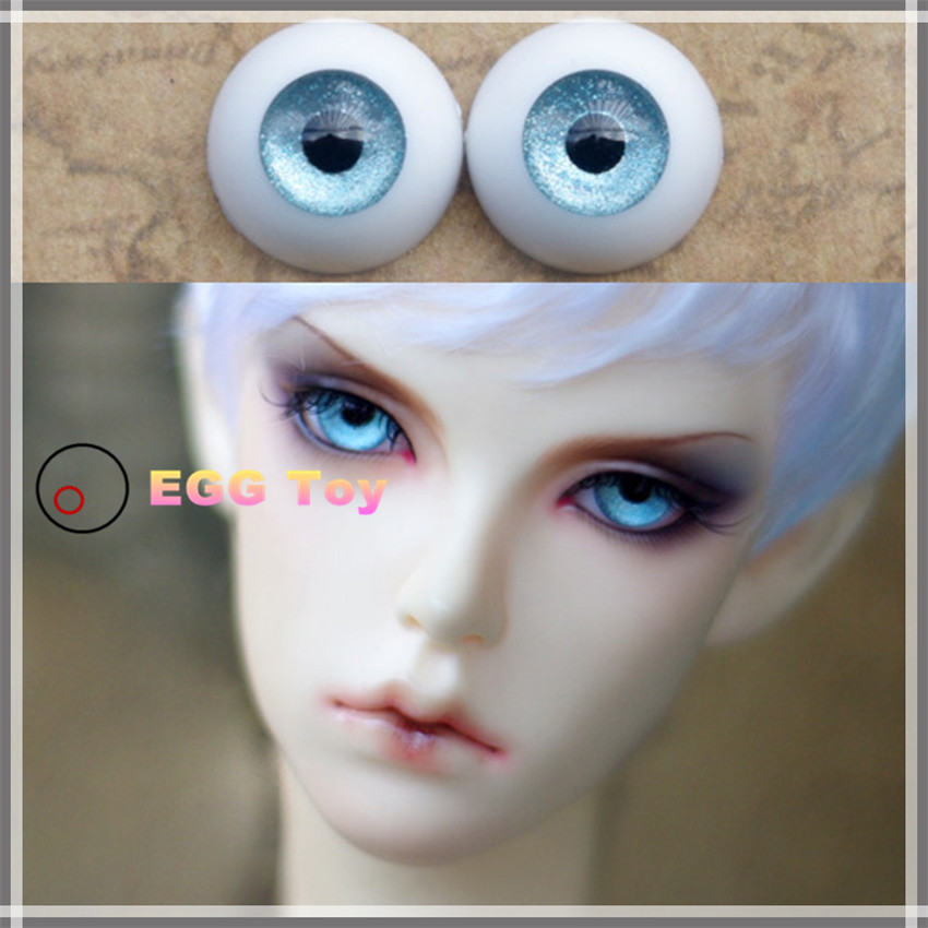 High quality 14mm Half Round Acrylic eyes 4 pairs for reborn baby doll BJD DOLL
