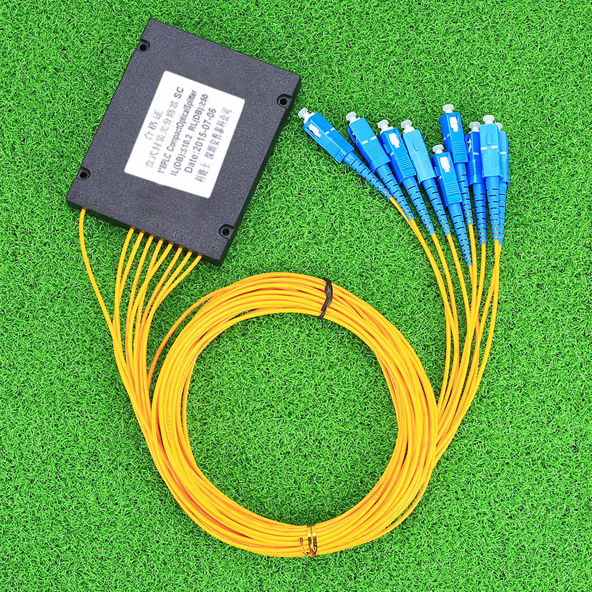 KELUSHI Optical Fiber Branching Device 1 points 8 Telecom PLC Cassette Optical Splitter with SC Optical Splitter GPON Planar
