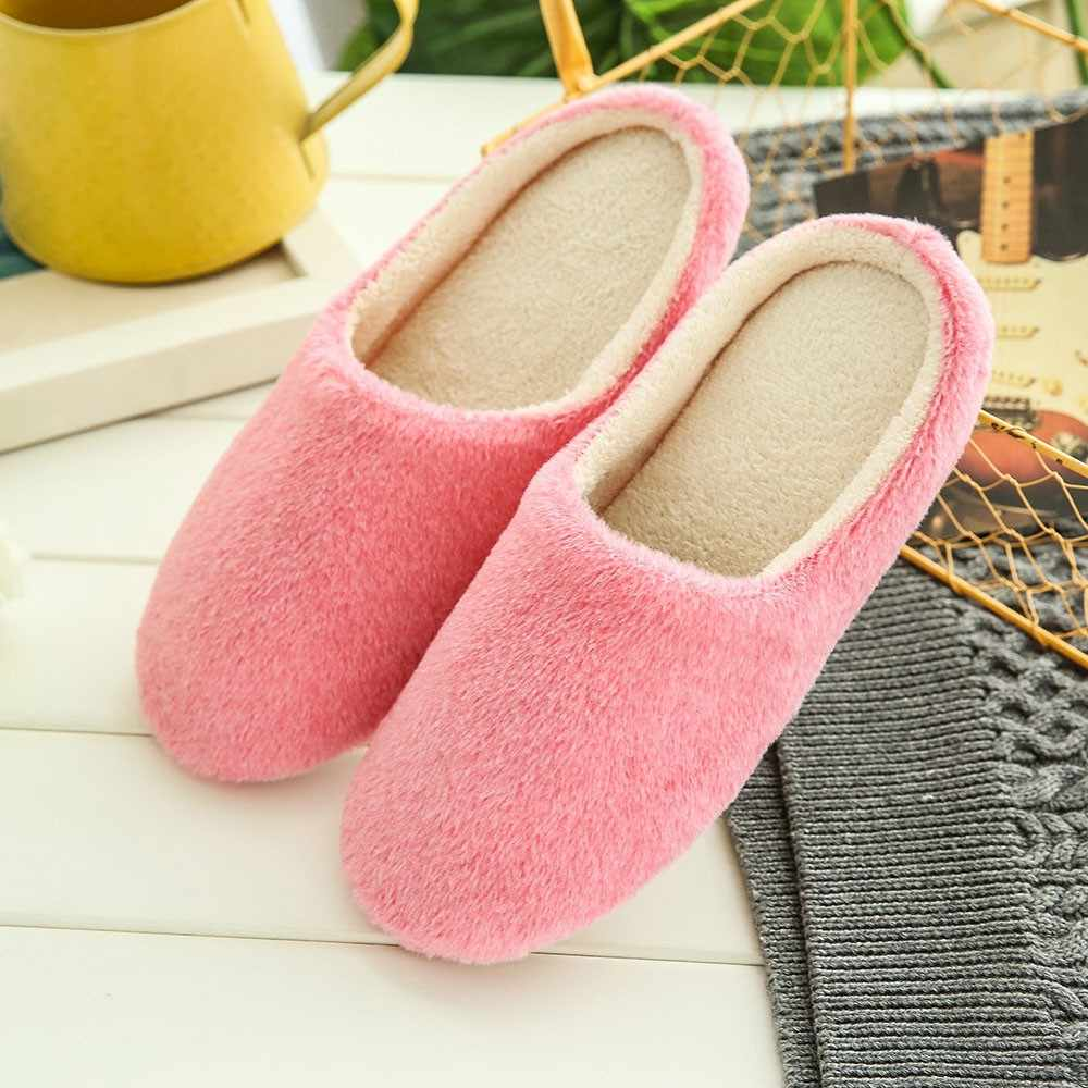 Floor Bedroom Shoes Outdoor Casual Slippers Shoes Slippers Women Warm Home Plush Soft Slippers Indoors Anti-slip Women Winter