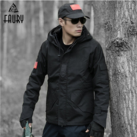 Military Tactical Uniform Black Combat Jacket Outdoor Windbreaker Hunting Clothes Army Warm Tatico Coat Male Working Clothes