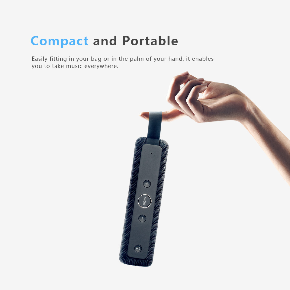 DOSS E-go ll Outdoor Portable Bluetooth Speaker With IPX6 Waterproof Built-In Microphone For PC 4